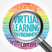 Virtual Learning Environment Word Cloud